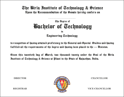 The Degree of Bachelor of Technology in Engineering Technology