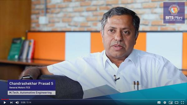 Prasad S, participant of M.Tech. Automotive Electonics programme
