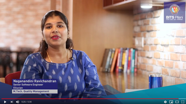 Naganandini,  speaks about her WILP experience