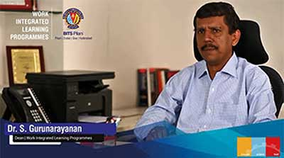 Prof. S Gurunarayanan Dean talks about Work Integrated Learning Programmes